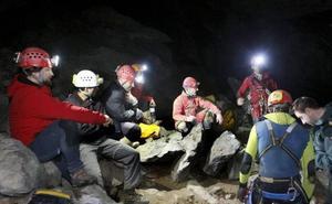 Nueve expertos estuvieron atrapados en Coventosa durante 30 horas en el año 2012