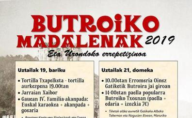 Programa de fiestas de Butrón 2019: Butroiko Madalen Jaiak
