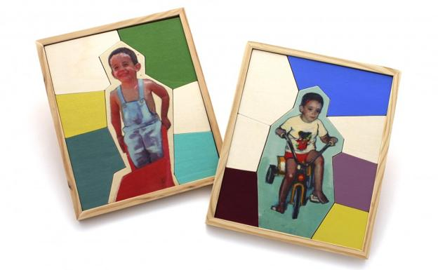 Los puzzles personalizados y de madera que crean Elena y Rosalía.