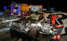 Un kamikaze provoca un brutal accidente con un muerto y cinco heridos en Asturias