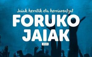 Programa de fiestas de Forua 2019: Foruko jaiak