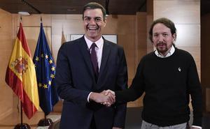Sánchez alimenta la teoría de ser investido con la abstención de Podemos y el apoyo secesionista
