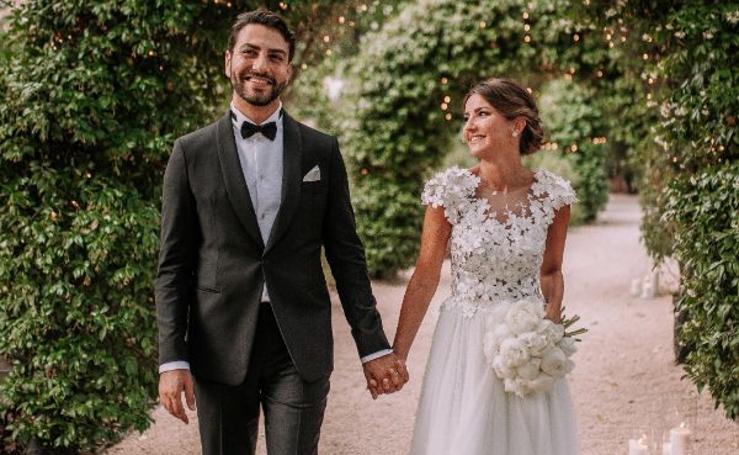 Los dos vestidos de novia de la 'influencer' Alexandra Pereira