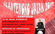 Programa de fiestas de Llanteno 2019: Santiago Llantenoko Jaiak