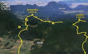 Ascensión desde Lagrán al Jaunden y Semendia