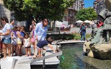 Los peces vuelven a la fuente de Murrieta de Santurtzi