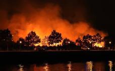 Se desata un incendio en Barakaldo tras los fuegos artificiales