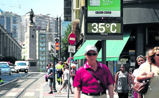 Bizkaia amanece con 23 grados y superará hoy los 40 por una nueva ola de calor