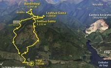 Los cordales que albergan, al norte de Pamplona, los hayedos más extensos de Navarra
