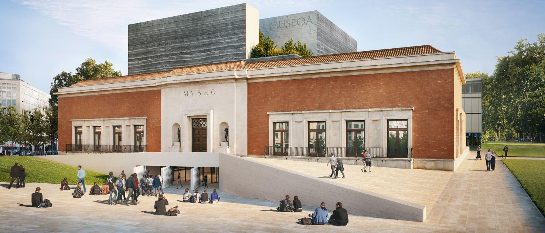 Así habría podido ser el Bellas Artes de Bilbao si no se hubiese elegido a Foster