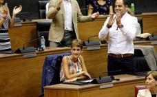 Barkos y Chivite formalizarán el lunes el traspaso de poderes en Navarra