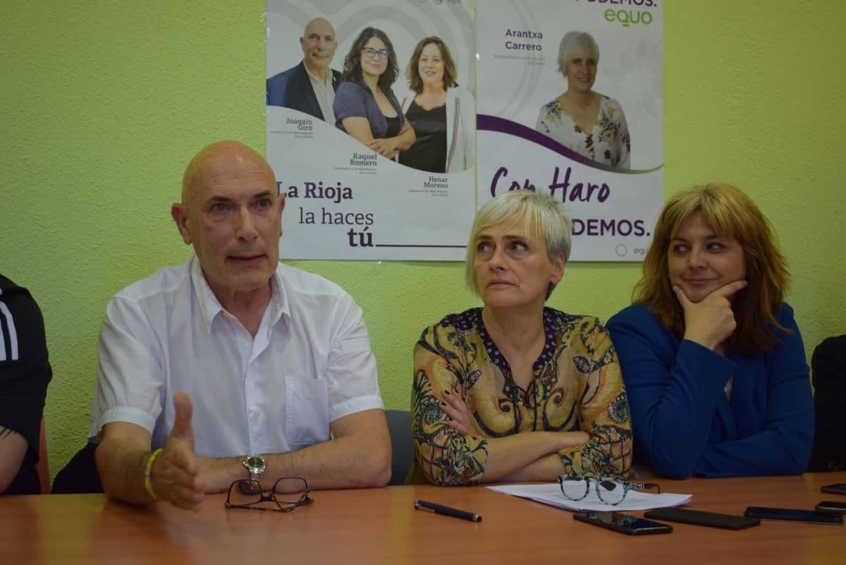 La asamblea de Podemos en Haro desautoriza a Carrero