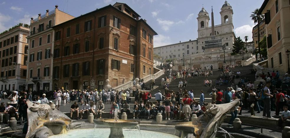 Las escaleras de Roma no son para sentarse