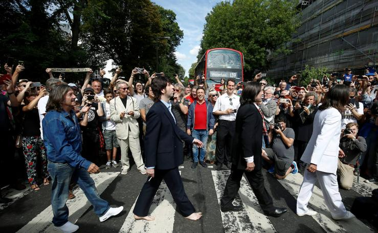 50 años de la foto de Los Beatles en Abbey Road