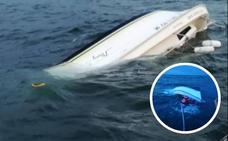 Rescatados tres adultos y seis menores de un barco hundido frente a la playa de Hendaia