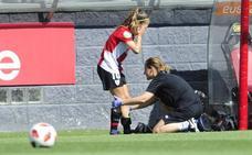 Maite Oroz: «Estaba nerviosa, pensaba que me podría dar algún problema la rodilla»