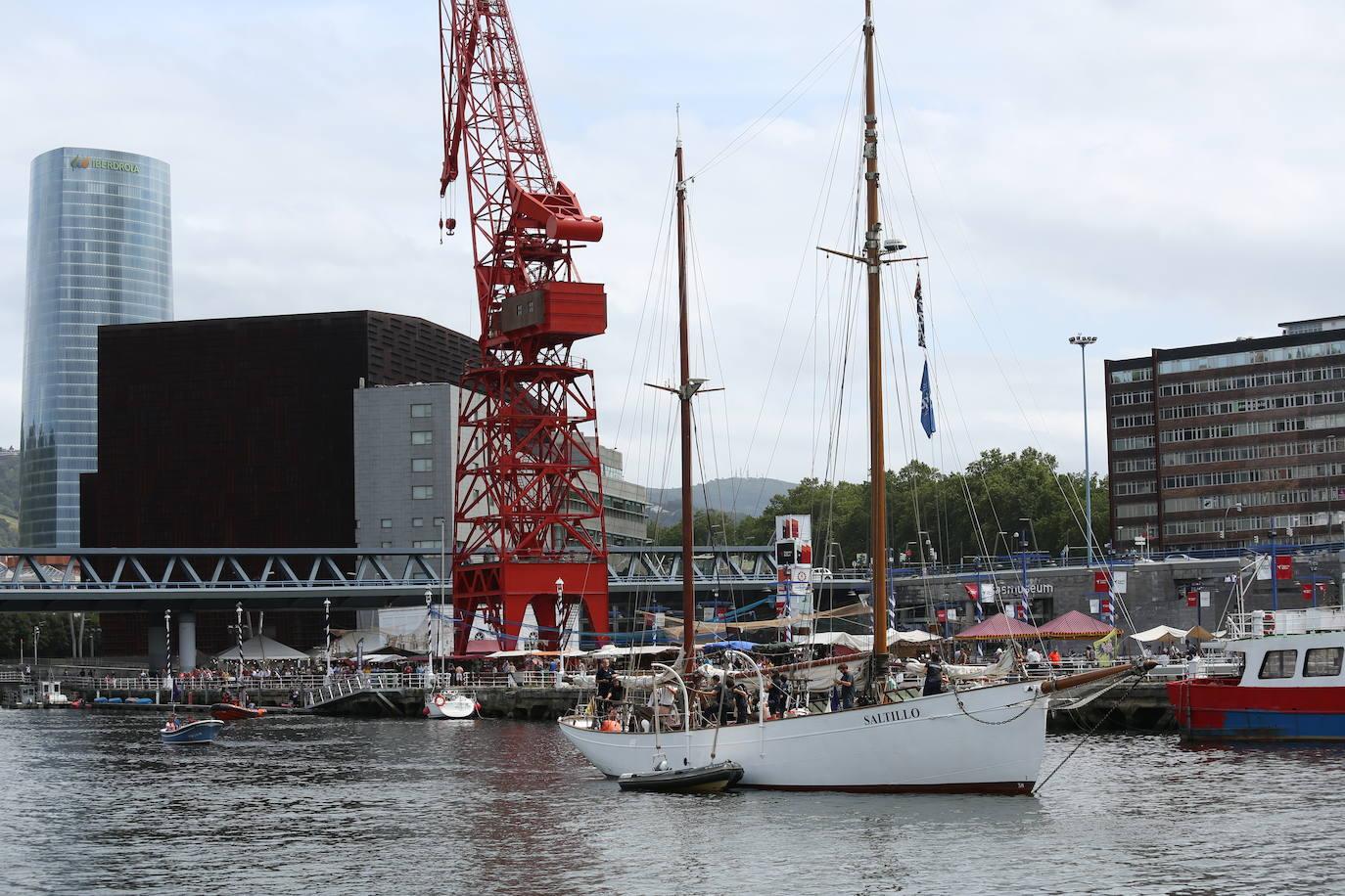 La visita del velero 'Saltillo' en el Museo Marítimo