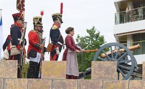 Las artilleras de la Real Sociedad disparan la fiesta de la Semana Grande donostiarra