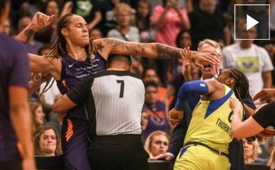 Seis expulsadas por una pelea a puñetazos en la WNBA