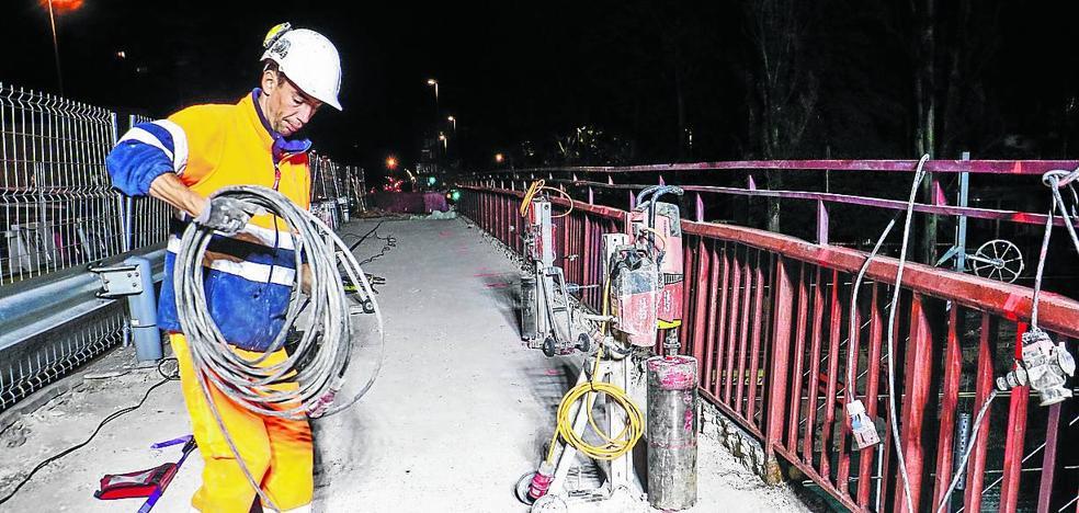 Finalizan las obras nocturnas de conexión entre Angulema y el nuevo ramal del tranvía de Vitoria