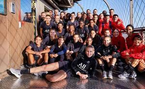 El PSG se entrena en plena Torre Eiffel