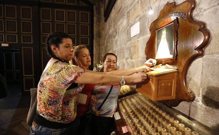 La peregrinación a la basílica de Begoña, en imágenes