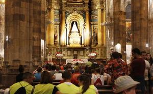 Los vizcaínos responden un año más a la llamada de la Amatxu de Begoña