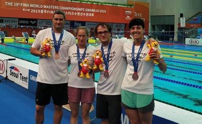 Tercera medalla para el CN Santurtzi en los Mundiales máster de natación