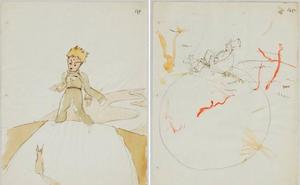 Hallados unos bocetos de 'El Principito' en una casa en Suiza