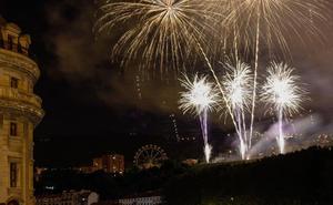 Los mejores escenarios para ver los fuegos artificiales de Aste Nagusia