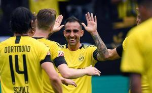 El Dortmund golea con un doblete de Alcácer