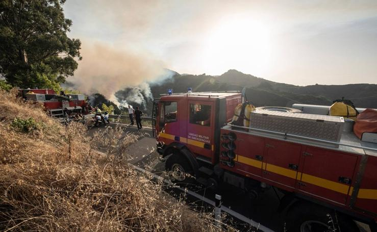 Las espectaculares imágenes del incendio en Gran Canaria