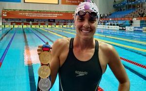 Bizkaia ya tiene una doble campeona mundial de natación: Eider Fuentes logra otro oro en Corea