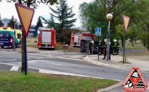 Dos accidentes con vuelco en Álava este lunes
