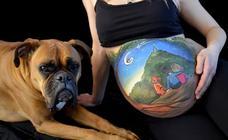 'Belly painting', la tendencia que triunfa entre las embarazadas de Euskadi