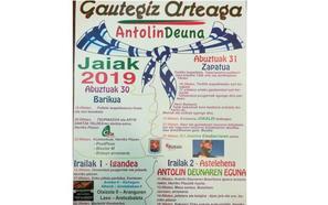 Programa de fiestas de Gautegiz Arteaga 2019: Antolin Deuna