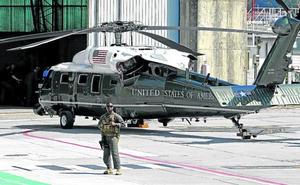 El 'pájaro' de Trump vuela sobre Hondarribia