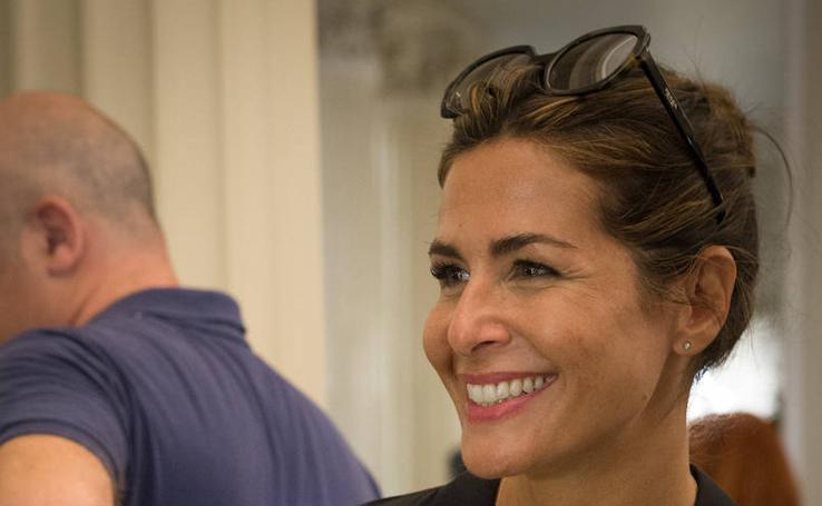 Nuria Roca disfruta de Aste Nagusia con su look más sport