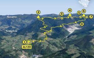 Ascensión a la cresta de Otsabio desde Altzo