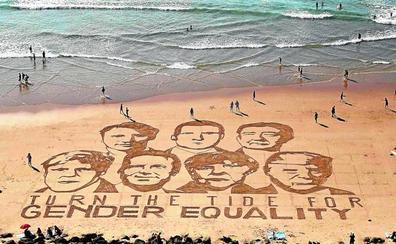 Biarritz acoge un G-7 fracturado