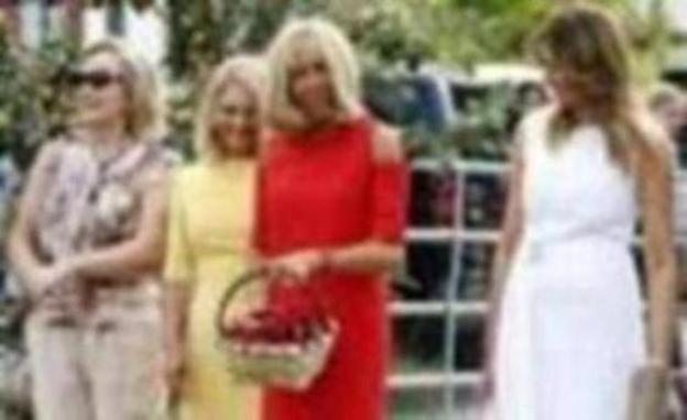 Las primeras damas, a ritmo de aurresku y pelota en Biarritz