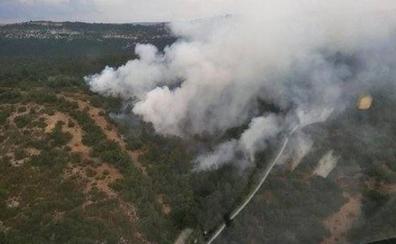 Extinguido el incendio forestal en Valderejo causado por un rayo
