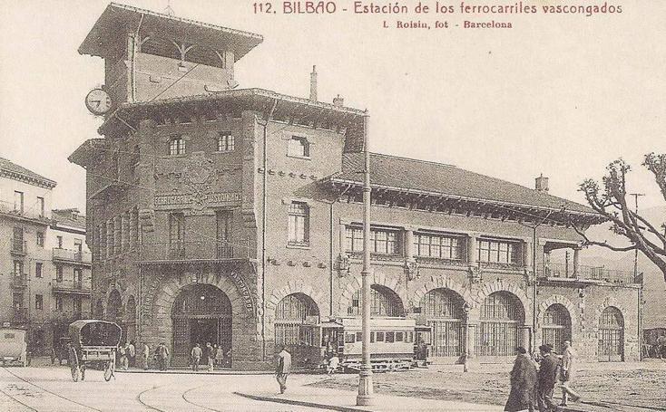 Así ha cambiado la estación de Atxuri desde 1912
