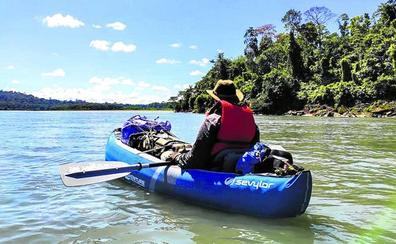 El explorador Miguel Gutiérrez regresa a Vitoria: «Vivimos la última década del Amazonas»