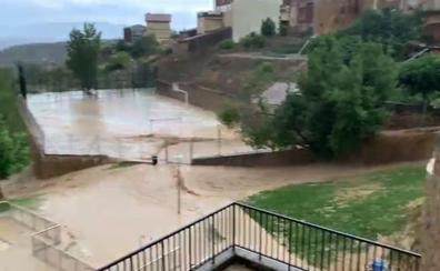 El viñedo supera una tormenta aparatosa con daños en pueblos de Rioja Alavesa