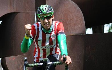 Los ciclistas vizcaínos de la Vuelta quieren entrar en San Mamés con la bandera del Athletic