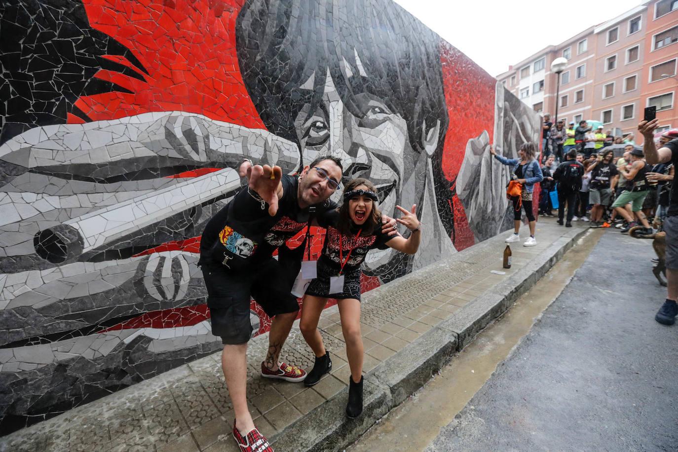 Un gran mural en Santurtzi para celebrar el 'Eskorbuto eguna'