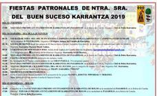 Programa de fiestas de Carranza 2019: Ntr. Sra. Del Buen Suceso - Gure Andra Mariren Jaiak