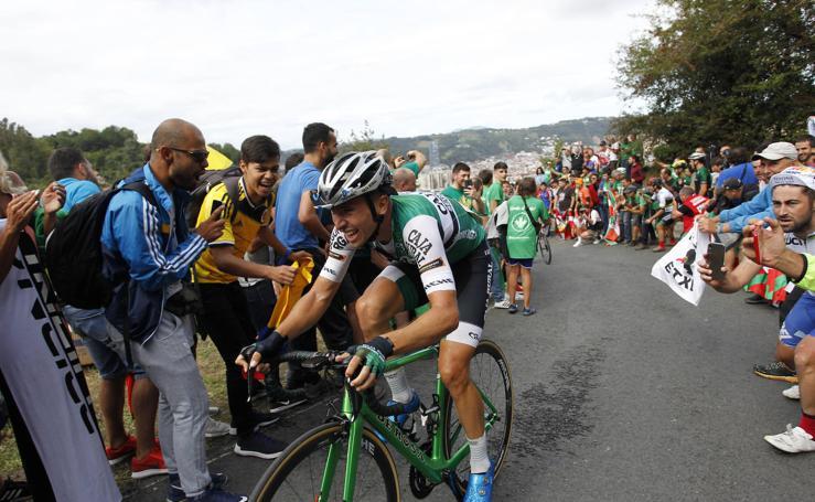 La Vuelta a su paso por el monte Arraiz