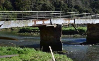 Ondarroa elabora el estudio para reparar el puente del barrio de Renteria